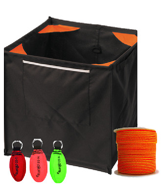 Throw Line Kit with 3 throw Weights, Cube and All Gear Target Line THROWKITBASIC