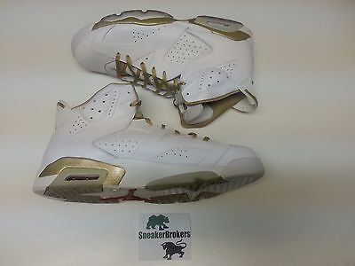 super popular 8e738 e7cb5 Nike Air Jordan 6 VI Retro Black Gold GMP Golden Moments Size 17. 535357-