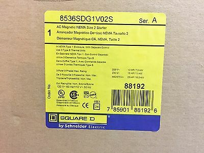 New Square D 8536Sdg1V02S Ac Magnetic Nema Size 2 Starter 200-460V Best Price