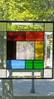 Hand Crafted Stained Glass panel,rainbow, stained glass window panel, glbt pride