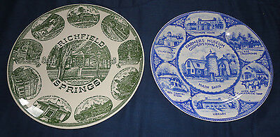 1960s Collector's Plates Cooperstown Farmer's Museum & Richfield Springs NY