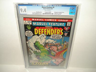 Marvel Feature #3 (Jun 1972, Marvel) CGC 9.4 3rd Appearance of the Defenders Key