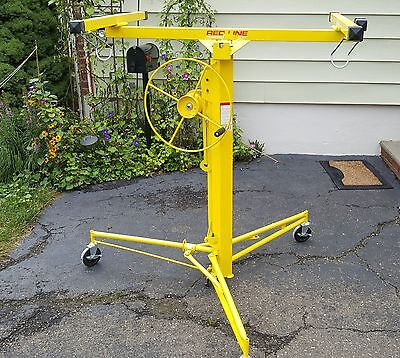 Used Drywall / Sheerock / Panel Lift 11' Hoist Rolling Caster In new condition.