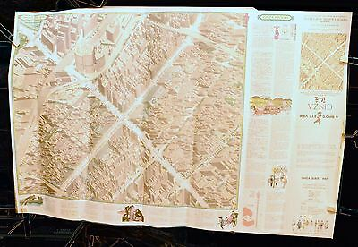 """1980s Double-Sided Laminated Nippon Graphic Map Co Ginza Quest Vol 1 ~ 18.5""""x29"""""""