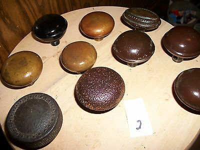 Lot antique -vintage- Victorian Art Deco lot fancy doorknobs-craft knobs-10 EACH