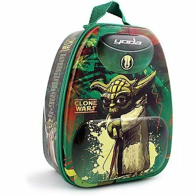 Star Wars Clone Wars Tin Backpack Style Bag School Lunchbox Lunch Box - Yoda