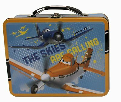 Planes Square Carry All Tin Stationary Lunch Box - The Skies