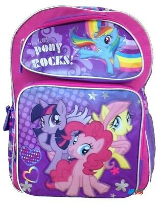 "My Little Pony Small Toddler 12"" Cloth Backpack Book Bag Pack - Pink"