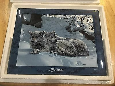 Bradford Exchange Wolf Affection Collectors Plate COA Certificate Authenticity