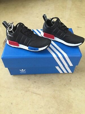 Adidas NMD Primeknit OG Black/Blue/Red 3D Mini Keychain With Matching Box!