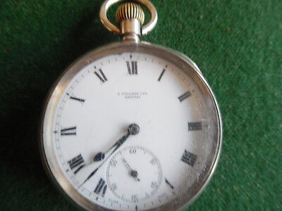 omega silver pocket watch E polland belfast on dail