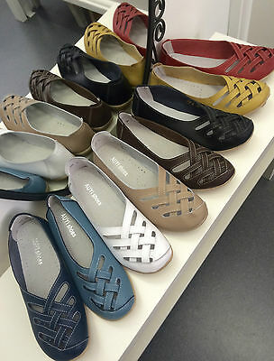 Auyi Lattice Style Leather Nodule Shoes In Lots Of Colours & Sizes