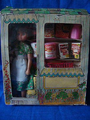 Vintage Hard Plastic Pedigree Doll Mib With Grocery Shop