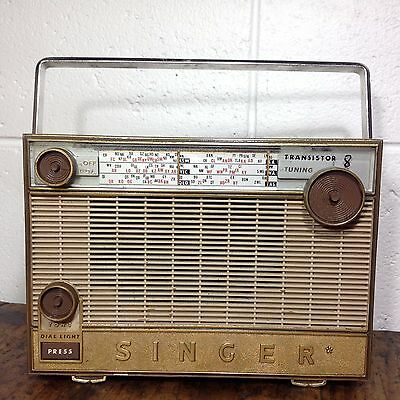 Very Rare SINGER TRANSISTOR 8 Radio Made by Ferris