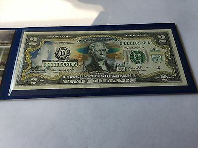 Two Dollar Bill Commemorative Bank Note Yellowstone