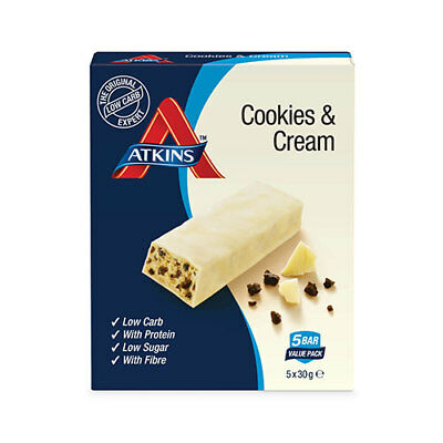 NEW Atkins Advantage Cookies & Cream 30g - 5 Pack
