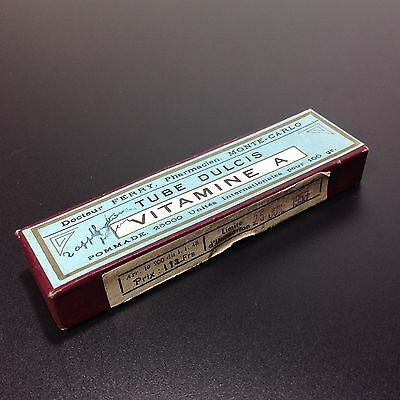 "Vintage Medical ""VITAMINE A"" Cream Tube MONTE-CARLO Pharmacy"