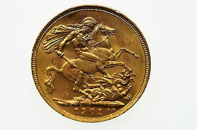 1901 Perth Mint Gold Full Sovereign in Very Fine Condition