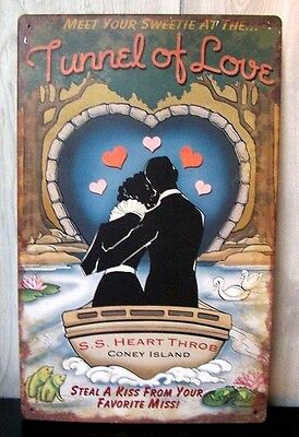 "Tunnel of Love 10"" X 16"" Metal Sign, A nice cool collectable!!"