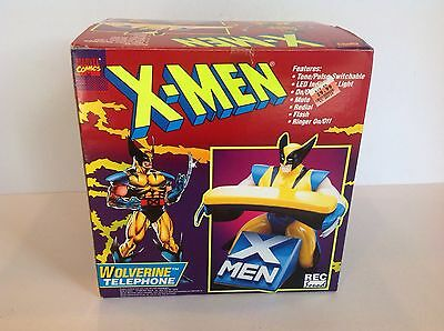 Misb Vintage 1994 X-Men Wolverine Phone, Marvel Comics