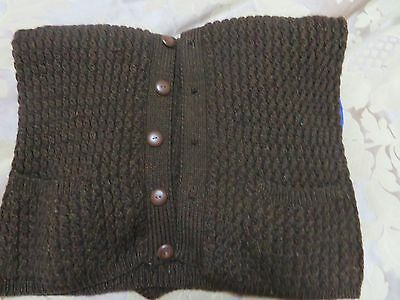 Patons Pure Wool Mens Cardigan. Hand knitted. Very warm.