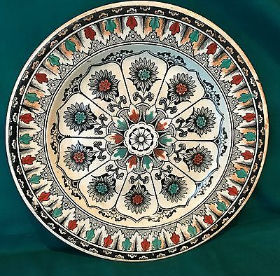 """Aesthetic Transferware Plate 2 - """"Cyprus"""" Black & White with Highlights"""