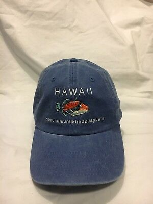"HAWAII""Humuhumunukunukuapua'a Denim Ball cap hat"