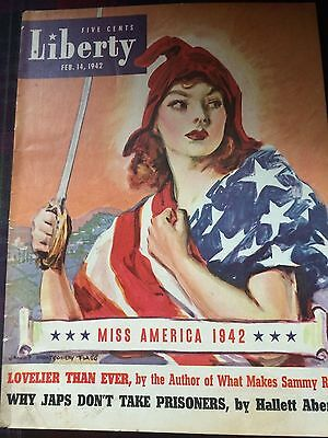 Vintage 1941 Liberty Magazine Cover James Montgomery Flagg From Wwi To Wwii Lady