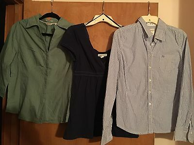 Lot Of 5 Ladies Size Large Shirts - Aeropostale, Slazenger, Riders