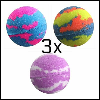 BULK BUY 3X BEST SELLING Bubble Bath Bombs BUY MORE SAVE MORE!!  Bath Treat 160g