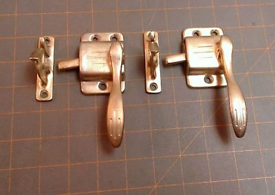 Pair Ice Box Door Latches Brass Polished Circa 1920 Antique
