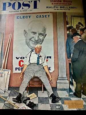 """Amazing Vintage Norman Rockwell Cover, """"elect Casey!?