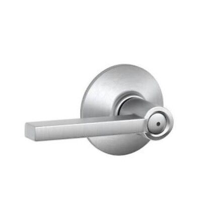 Schlage Lock F40 LAT 626 Bed and Bath lever, Satin Chrome