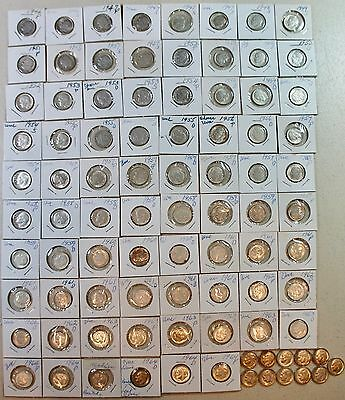 Collection of 89 Silver Roosevelt Dimes