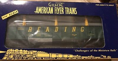 American Flyer S  6 - 48526 Reading Gondola With Pipes - Nib