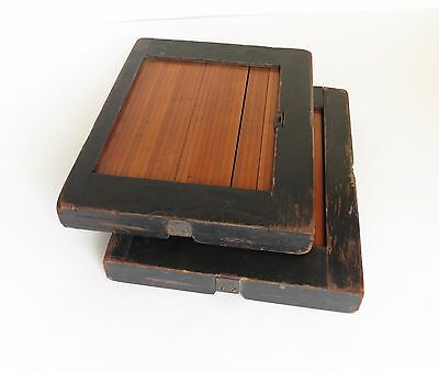2 Vintage Photograph Printing Contact Frames Roll Front Antique Film Developing