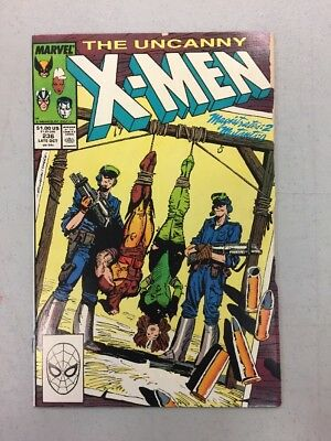 The Uncanny X-men 236 Comic Book First 1st Appearance Of Wipeout Marvel GD VG