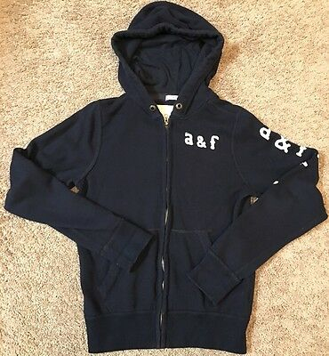 Kids Boys Muscle Abercrombie And Fitch Full Zip Hoodie Sweater XL