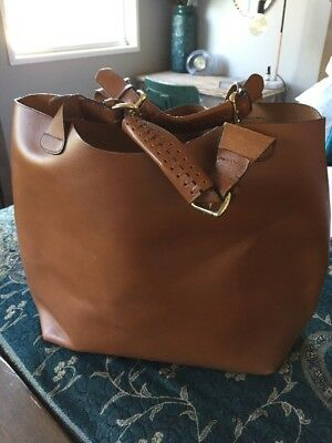 Zara Woman Ladies Large Tan Leather Bag Tote