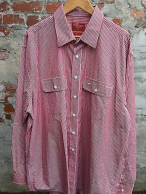 Men's Vintage RM Williams Red Stripe Shirt - Size 3XL