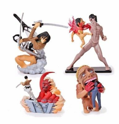 Attack on Titan Small Toy Doll PVC Model (One Set Four Pieces ) #att-794