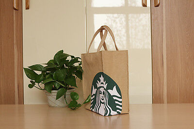 Highly Recommend Starbucks NEW CANVAS Lunch Bag GREEN LARGE TOTE BAG HANDBAG