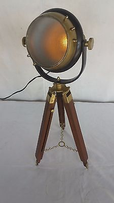 Halloween Nautical Antique Look Searchlight With Tripod Stand Spot Light Studio