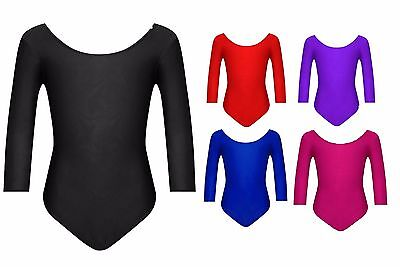 Girls Children Leotards Gymnastics School Sports PE Ballet Dance Stretchy