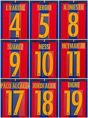 Fc Barcelona 2016-17 Name Set  Player Issue Match Avery Home Messi