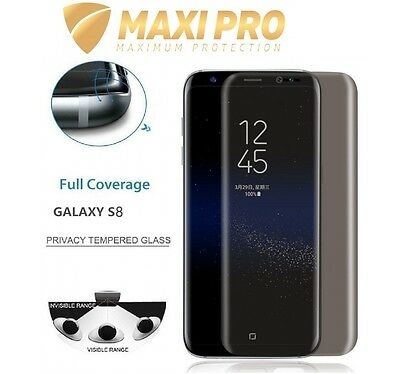 Samsung Galaxy S8 S8+ Full Privacy Screen Protector Anti Spy Tempered Glass Cove