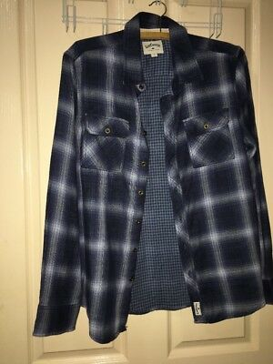 Boys Size 14 Button-Up Navy Blue Shirt