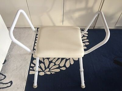 Shower Stool With Padded Seat ( As New )