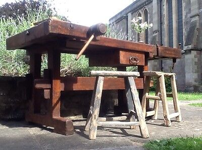 Antique 19th Century Work Bench