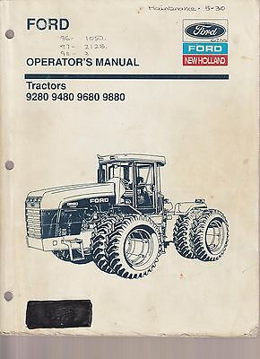 Ford 9280 9480 9680 9880 Tractor Operator's Manual